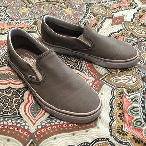 Light Gray Slip-on Vans